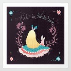 Alice In Wonderland. Art Print
