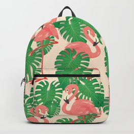 Flamingo in Tropical Forest Backpack
