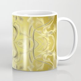 silver and gold Digital pattern with circles and fractals artfully colored design for house Coffee Mug