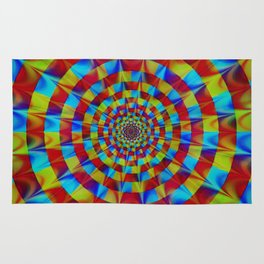 ZOOM #1 Vibrant Psychedelic Optical Illusion Rug