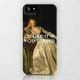 Stay for a Kiss iPhone Case