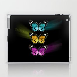 3 colorful butterflies Laptop & iPad Skin