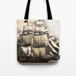 sailing ship vintage Tote Bag