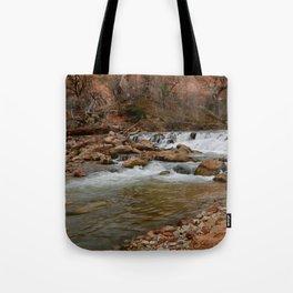 Virgin_River Falls 0898 - Zion Court Tote Bag