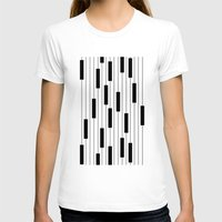 piano T-shirts featuring Piano by beach please