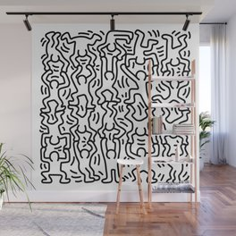 Homage to Keith Haring Acrobats Wall Mural