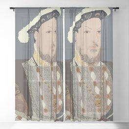 Henry VIII of England Sheer Curtain