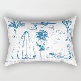 Florida Sketchbook 1 Rectangular Pillow