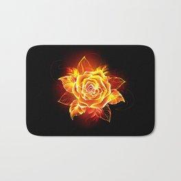 Blooming Fire Rose Bath Mat