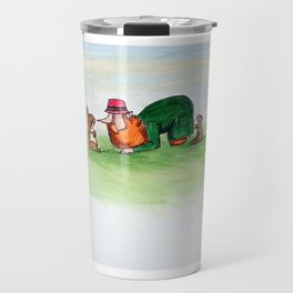 Eye to eye Leprechaun and Rabbit Travel Mug
