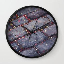 Rocks, stars, hearts Wall Clock