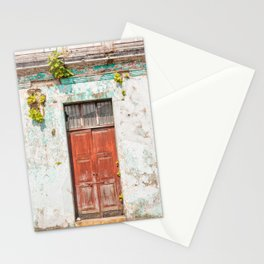 Old red door in Antigua, Guatemala Stationery Cards