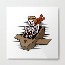 kamikaze  in flying coffin Metal Print