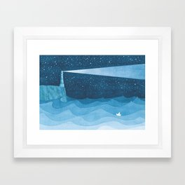 Lighthouse illustration Framed Art Print