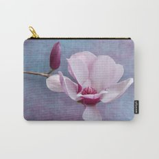 Pink Chinese Magnolia Flower with Bud Carry-All Pouch