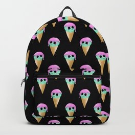 Brain Freeze on black. Backpack