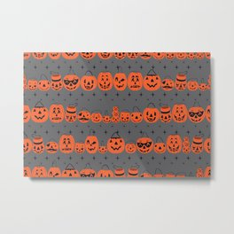 Trick or Treat Smell My Feet- Grey Metal Print