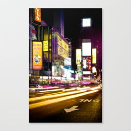 City of Blinding Lights Canvas Print