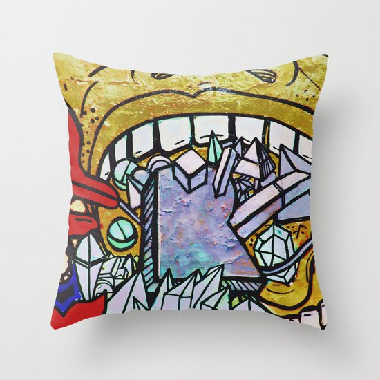 Graffiti II Throw Pillow
