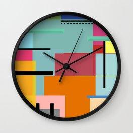 Colores y lineas Wall Clock