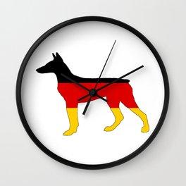 German Flag - Dobermann Pinscher Wall Clock