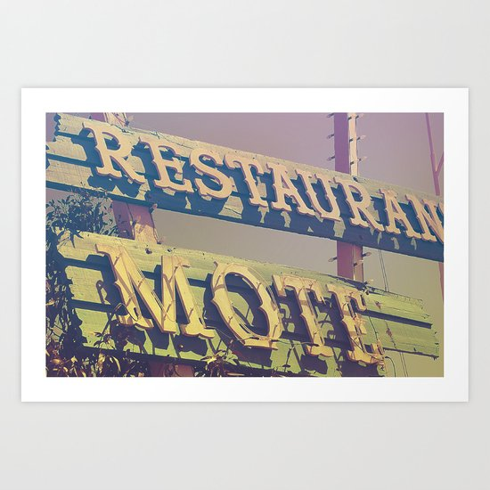 Motel #4 Art Print