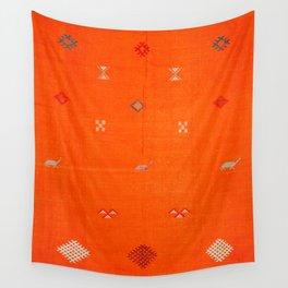 Traditional Anthropologie Moroccan orange Artwork. Art Print Wall Tapestry