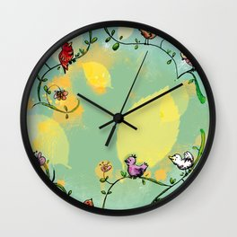 Three little birds Pitch by my door step Wall Clock