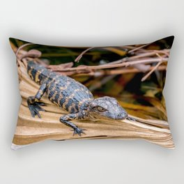 Baby Alligator Rectangular Pillow