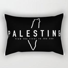 Palestine x Outline Rectangular Pillow