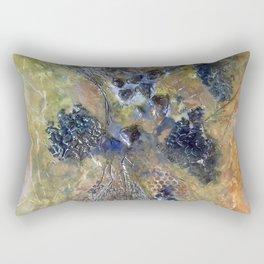 Embedded Emotions - Mixed Media Beeswax Encaustic Abstract Modern Fine Art, 2015 Rectangular Pillow