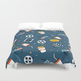 Movie Night Whimsical Pattern Duvet Cover