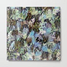 Abstract Confetti Landscape Metal Print