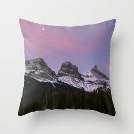 Three Sisters Sunrise Throw Pillow