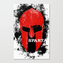 This Is Sparta minimalist poster Canvas Print