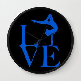 Gymnast Love Wall Clock