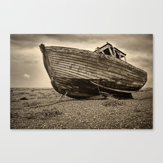 Decaying Fishing Boat Canvas Print