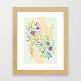Posies Framed Art Print