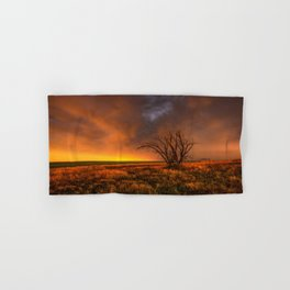 Fascinations - Warm Light and Rumbles of Thunder in Oklahoma Hand & Bath Towel