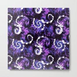 Purple Twisting Mess TieDye Metal Print