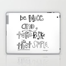 Nice + Risks = Happiness  Laptop & iPad Skin