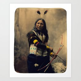 Shout At, Oglala Sioux, by Heyn Photo, 1899 Art Print