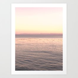 Pink Pacific Art Print