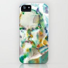 MARK TWAIN - watercolor portrait iPhone Case