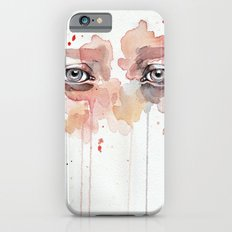 Missing you, watercolor eye study Slim Case iPhone 6s