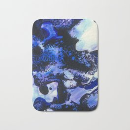 Point of View Abstract Water Blue Purple Art Bath Mat