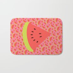 Spring watermelon Bath Mat