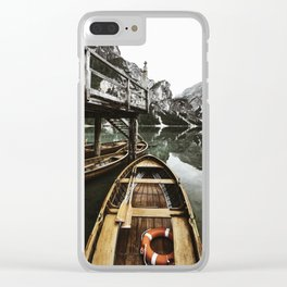 braies lake Clear iPhone Case