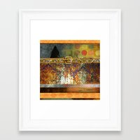 western Framed Art Prints featuring WESTERN GOLD by INA FineArt