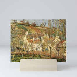 "Camille Pissarro ""The Red Roofs, a Corner of a Village, Winter Effect"" Mini Art Print"